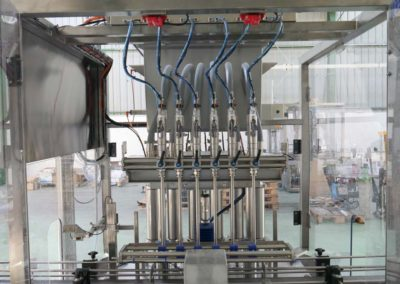 Three servo piston filling machines